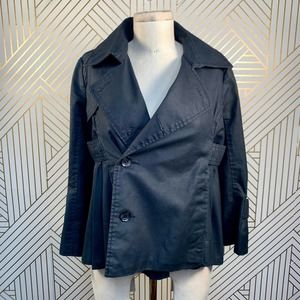 G-Star Raw Denim Black Cropped Trench Jacket
